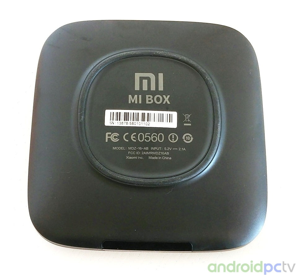 Review Xiaomi Mi Box With Android Tv And Support For Netflix Uhd 4k Bt Wiring At The Bottom We Have A Rubber Circle That Prevents From Sliding In Front Area Can See Transparent Compartment Hides White