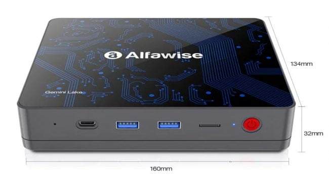 Alfawise T1 Mini PC with Intel Gemini Lake CPU and 4K @ 60fps output