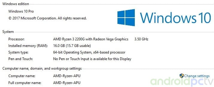 ryzen 3 2200g driver windows 10