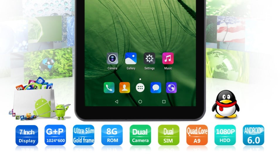 BDF A708 3G an ultra low-end tablet with 3G and Spreadtrum