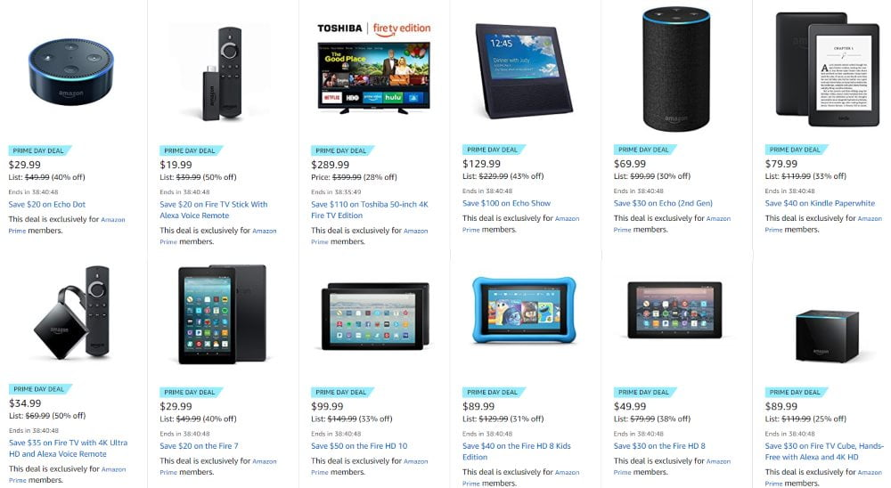 Amazon Prime Day: The best Deals for all the Amazon Devices