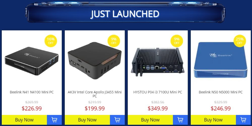 Gearbest offers special discounts on mini PC and Android TV