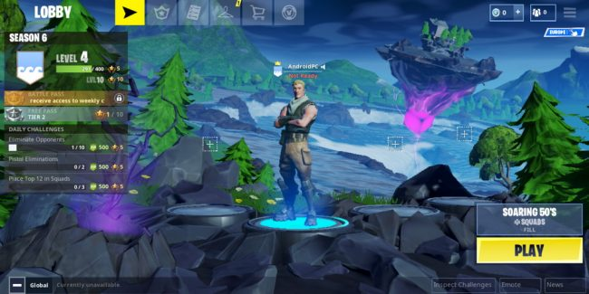 fortnite android installation fortnite performance configuration keyboard and mouse or gamepad in fortnite - fortnite play android