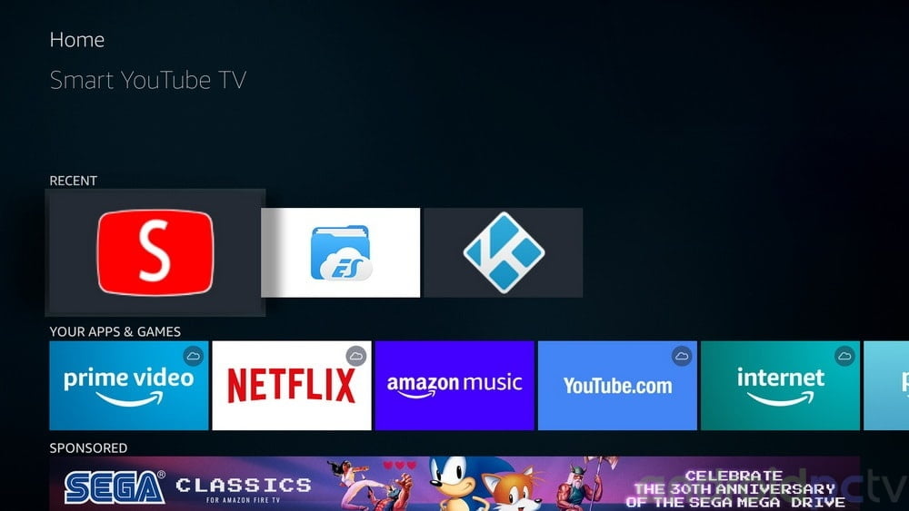 Smart YouTube TV an app to watch YouTube on Amazon Fire TV and