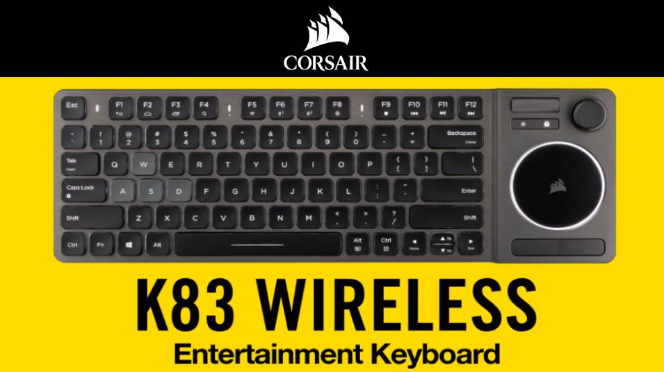 Corsair K83 Wireless A New Keyboard For Multimedia And Gaming Androidpctv