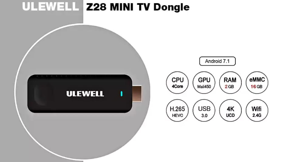 FIRMWARE: ULEWELL Z28 TV-Stick with RK3328 SoC (03-08-2018