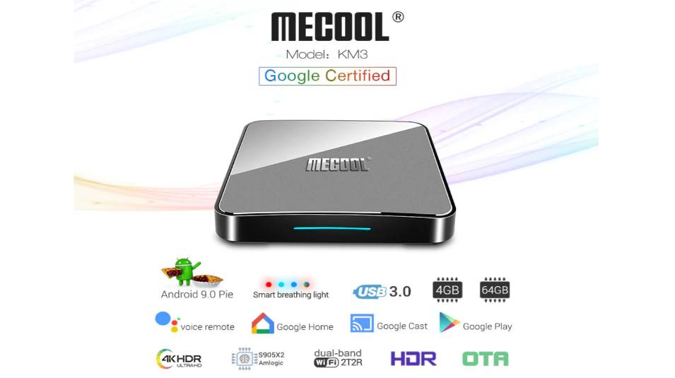 MECOOL KM3 with Android TV 9 Pie and Google certification