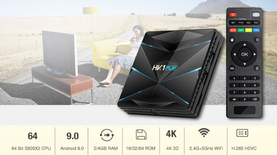 HK1 Play a new Android TV-Box with S905X2 SoC that premieres
