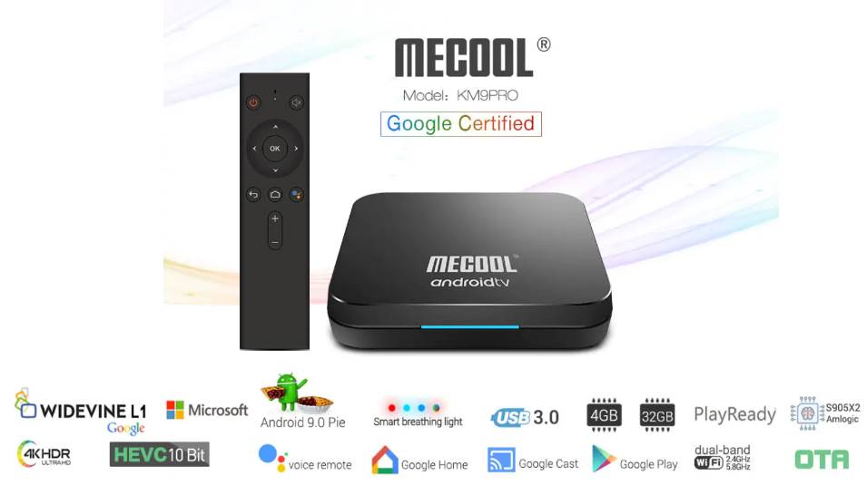MECOOL KM9 Pro a new TV-Box with Google Certification and Android TV