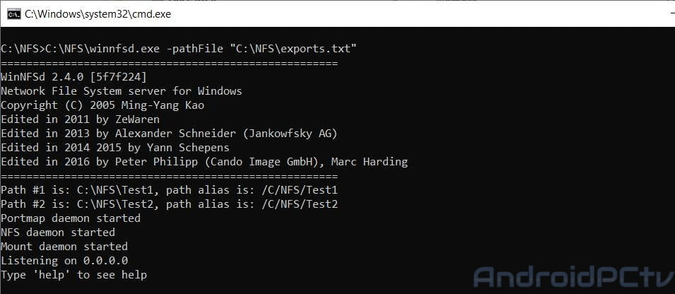 TUTORIAL: NFS server in Windows to share files with Android