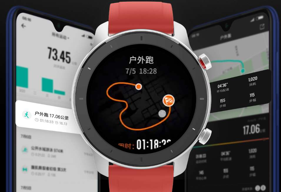 Huami Amazfit GTR an elegant smartwatch presented in two
